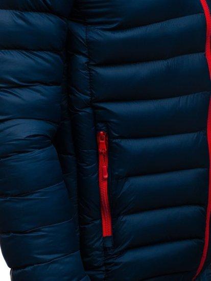 Kurtka męska zimowa sportowa granatowa Denley SM50