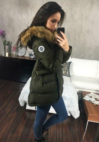 Kurtka zimowa damska khaki Denley 8065