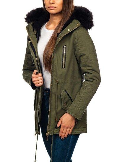 Kurtka zimowa damska zielona Denley M16