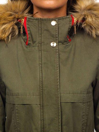Kurtka zimowa damska zielona Denley M888