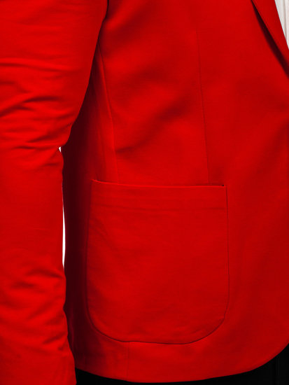 Marynarka męska casual czerwona Denley 1652