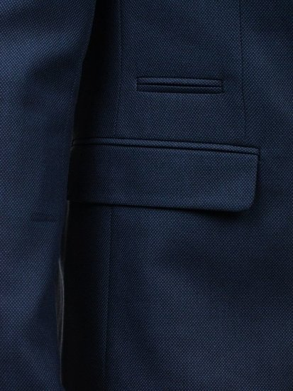 Marynarka męska elegancka jasnogranatowa Denley 1050