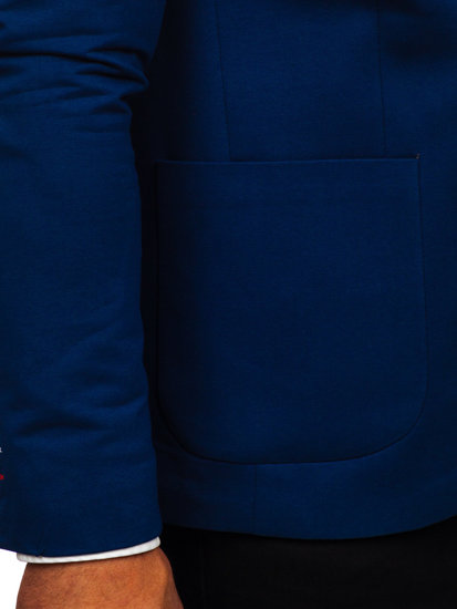 95fecd2df2e1f Marynarka męska elegancka niebieska Denley 1652