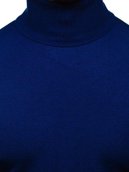 Niebieski golf sweter męski bez nadruku Denley YY02