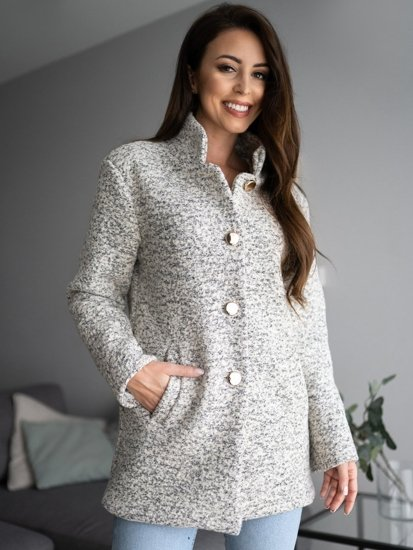 Płaszcz damski biały Denley 6011-1
