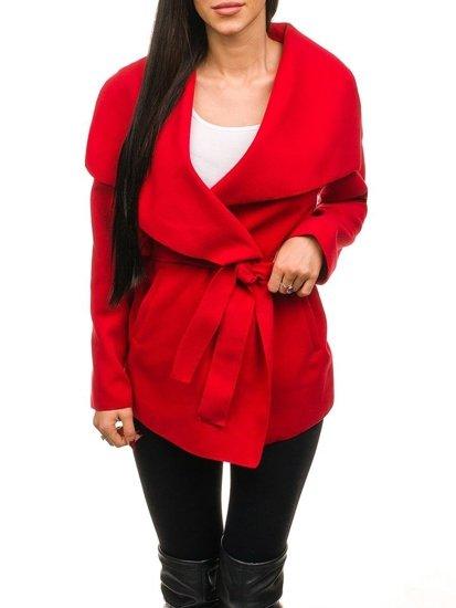 Płaszcz damski czerwony Denley 1726