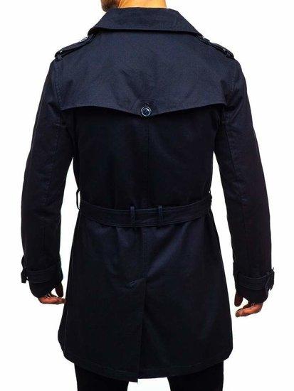 Płaszcz męski trencz granatowe Denley 5710