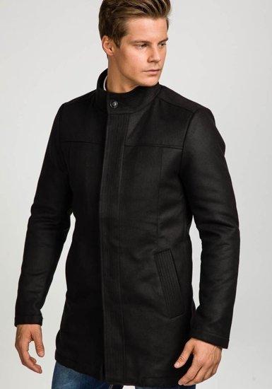 Płaszcz męski zimowy czarny Denley 3132