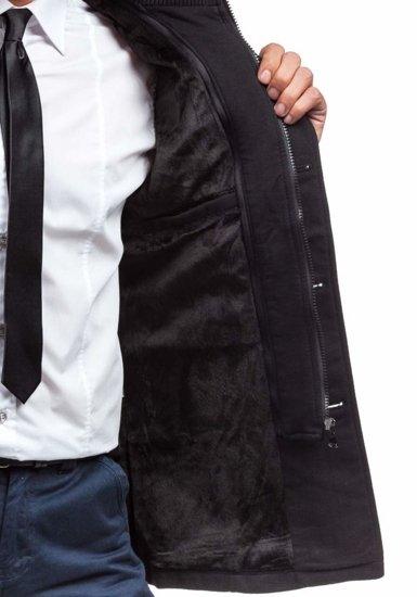 Płaszcz męski zimowy czarny Denley 8853B