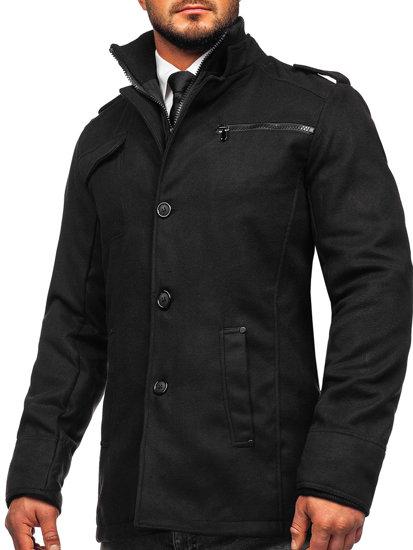 Płaszcz męski zimowy czarny Denley 8856