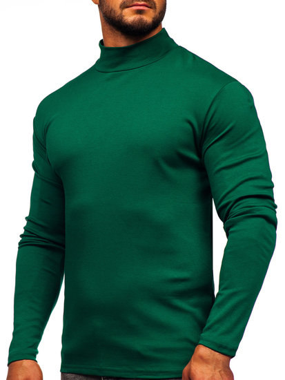Półgolf męski basic zielony Denley 145348