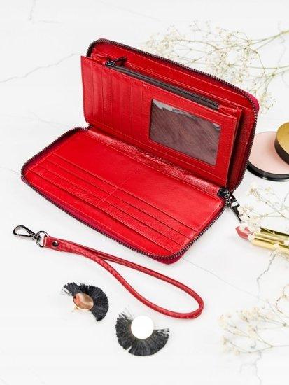 Portfel damski skórzany czerwony 2084