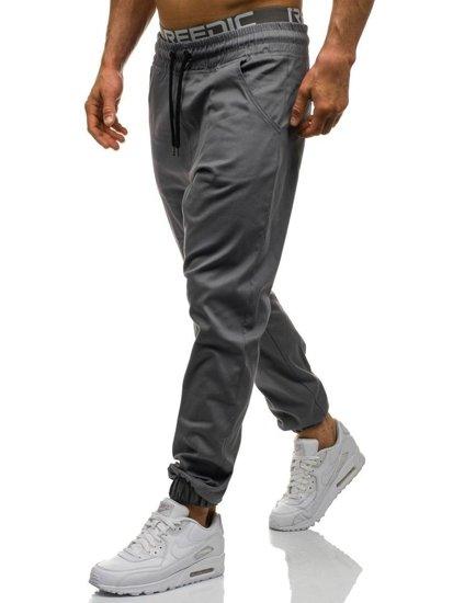Spodnie baggy męskie grafitowe Denley 0399