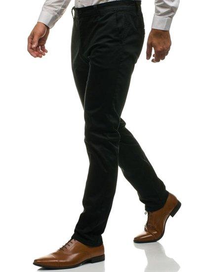 Spodnie chinosy męskie czarne Denley 6807