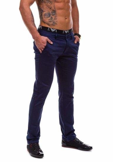 Spodnie chinosy męskie granatowe Denley 1557