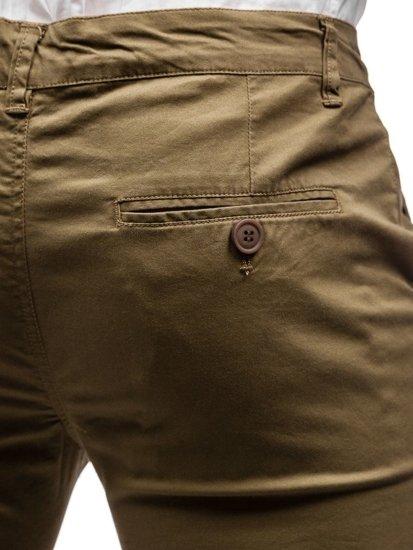 Spodnie chinosy męskie khaki Denley 2901