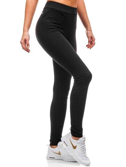 Spodnie dresowe damskie czarno-złote Denley W9995