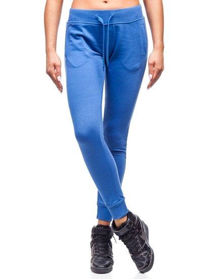 Spodnie dresowe damskie niebieskie Denley WB11003