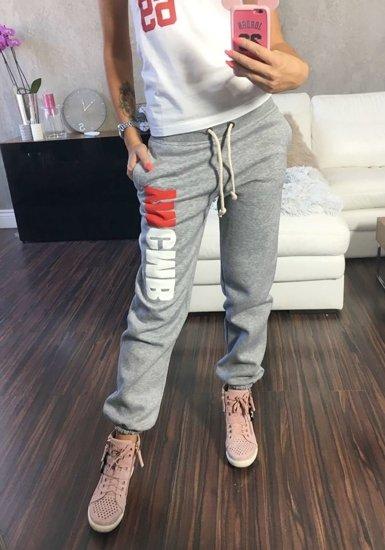 Spodnie dresowe damskie szare Denley 601