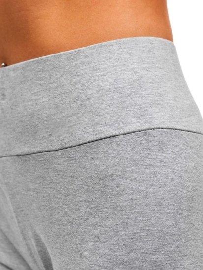 Spodnie dresowe damskie szare Denley W9998