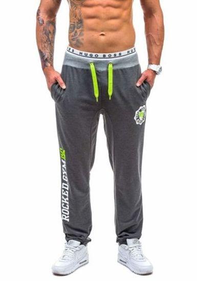 Spodnie dresowe męskie antracytowe Denley 1044