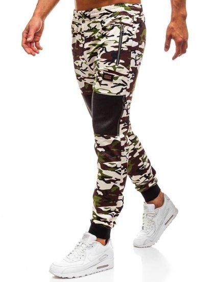 Spodnie dresowe męskie moro-ecru Denley 170
