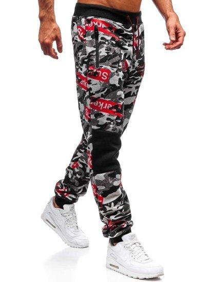 Spodnie dresowe męskie szare Denley 55059