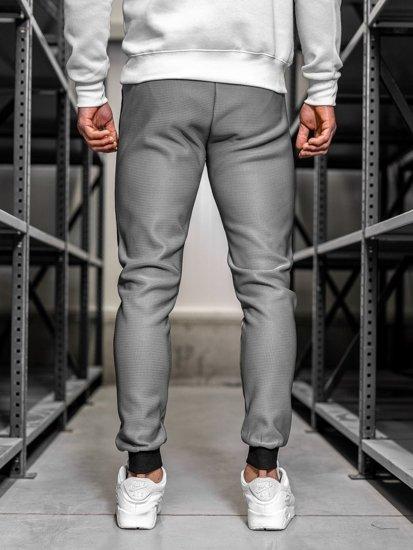 Spodnie dresowe męskie szare Denley AM79