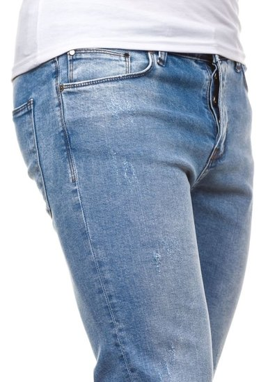 Spodnie jeansowe męskie błękitne Denley 272