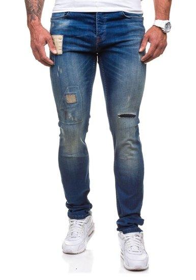 Spodnie jeansowe męskie granatowe Denley 250