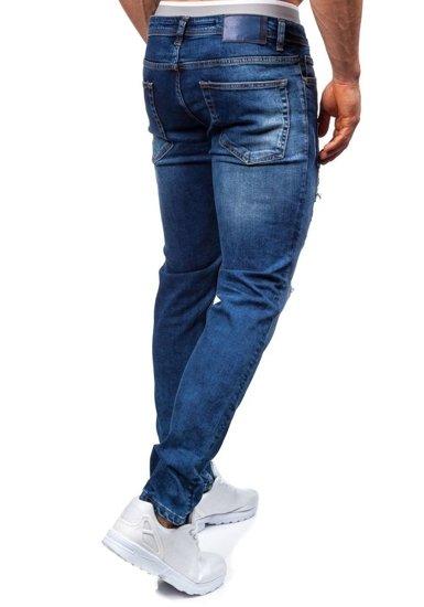 Spodnie jeansowe męskie granatowe Denley 302