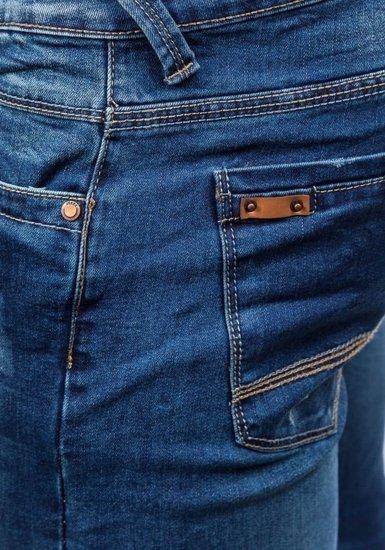 Spodnie jeansowe męskie granatowe Denley 8895