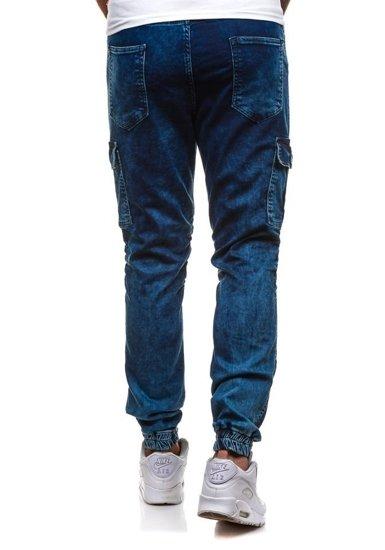 Spodnie joggery bojówki męskie atramentowe Denley 4257