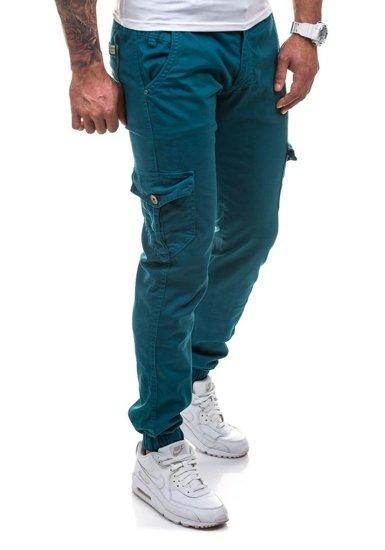 Spodnie joggery bojówki męskie morskie Denley 0802