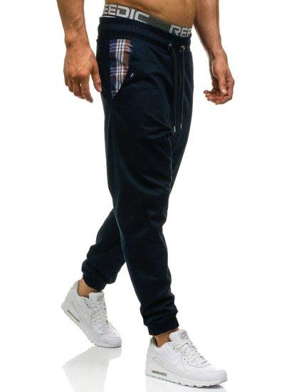 Spodnie joggery męskie granatowe Denley 0449