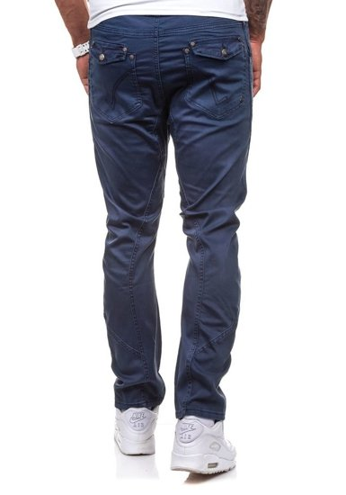 Spodnie materiałowe męskie atramentowe Denley 8381