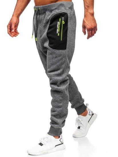 Spodnie męskie dresowe grafitowe Denley TC841