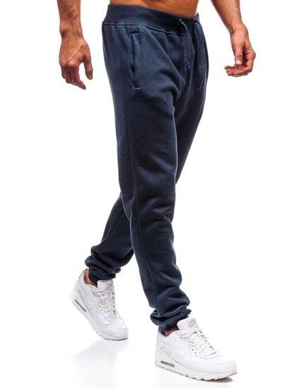 Spodnie męskie dresowe granatowe Denley XW01