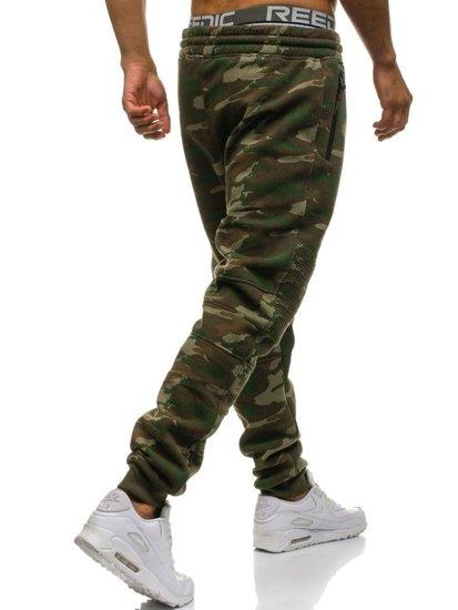 Spodnie męskie dresowe joggery moro multikolor Denley 3771B