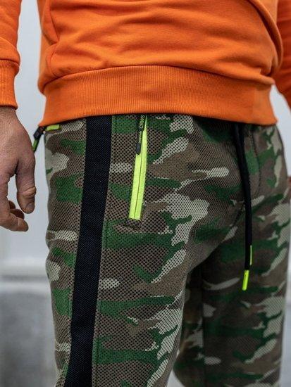 Spodnie męskie dresowe moro multikolor Denley 3783C