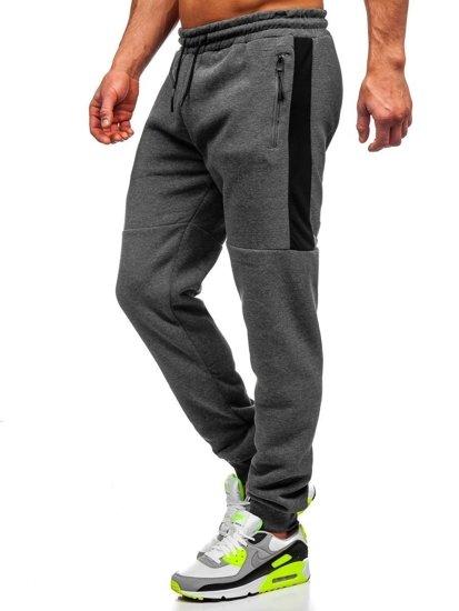 Spodnie męskie dresowe szare Denley JX8957