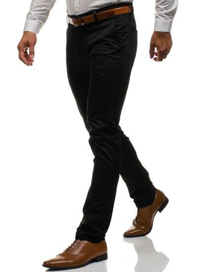 Spodnie wizytowe męskie czarne Denley 0204