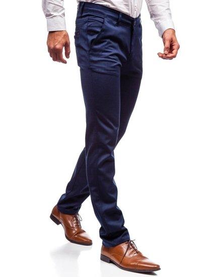 Spodnie wizytowe męskie niebieskie Denley 7623
