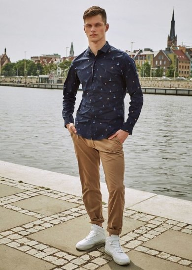 Stylizacja nr 12 - koszula i spodnie chinosy