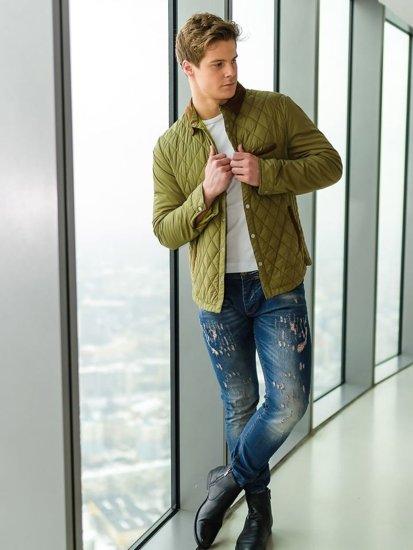 Stylizacja nr 165 - kurtka przejściowa, T-shirt męski, spodnie jeansowe