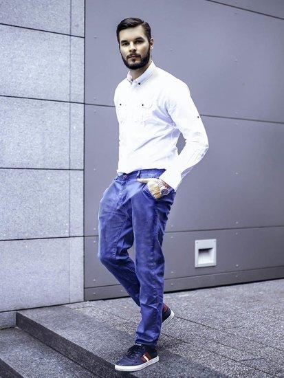 Stylizacja nr 280 - zegarek, elegancka koszula, spodnie chinosy, buty