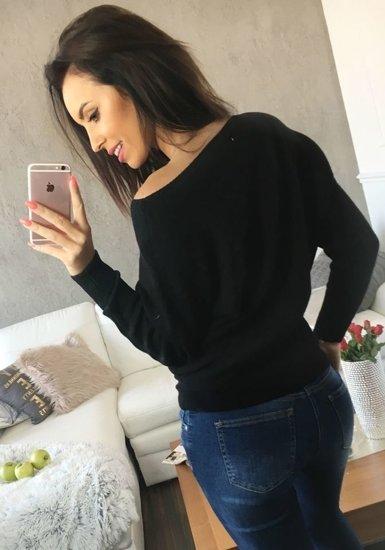 Sweter damski czarny Denley 644
