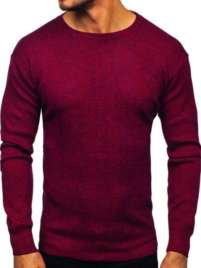 Sweter męski bordowy Denley 8529