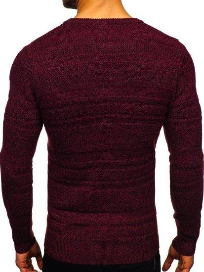 Sweter męski bordowy Denley H1926