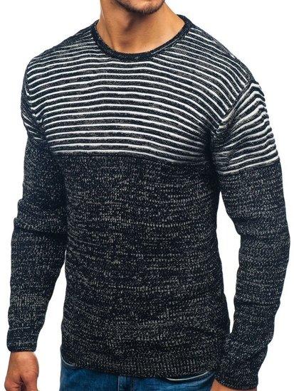 91c00152b871 Sweter męski czarno-biały Denley 156